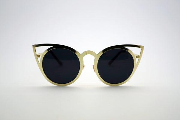 Queens Love - Pussy Power Sunglasses - Gold Black