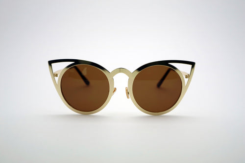 Queens Love - Pussy Power Sunglasses - Gold Brown