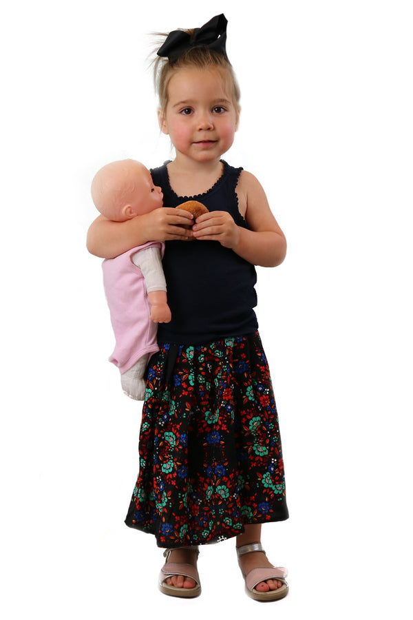 MINIMUM Multi Flower Kids Skirt