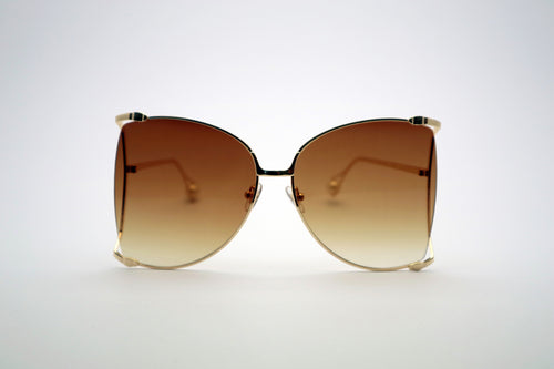 Queens Love - Woodstock Wonderland Sunglasses - Gold Brown