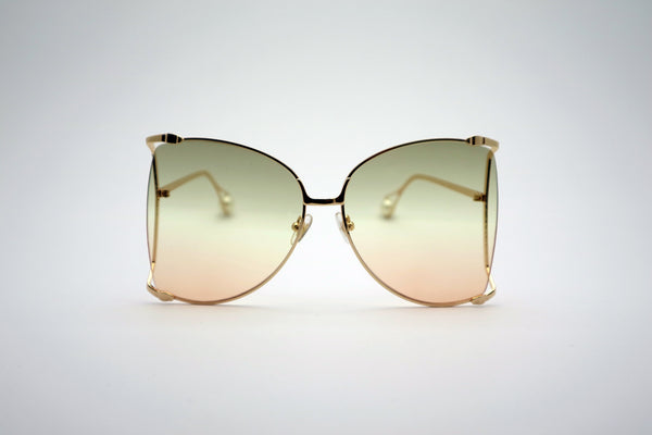 Queens Love - Woodstock Wonderland Fashion Spectacles - Gold Pink