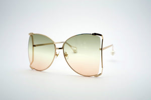 Queens Love - Woodstock Wonderland Sunglasses - Gold Smokey Pink