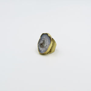 Queen Agate Love Ring