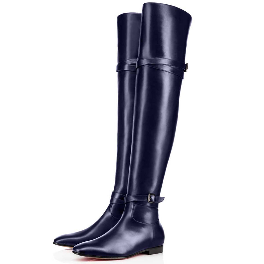 491165be65a FSJ Navy Over-The- Knee Boots – FSJ Shoes