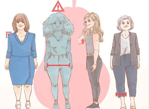 how to dress for pear body type