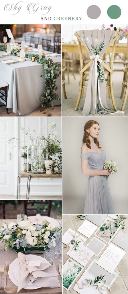Gray is a classic color for all seasons wedding