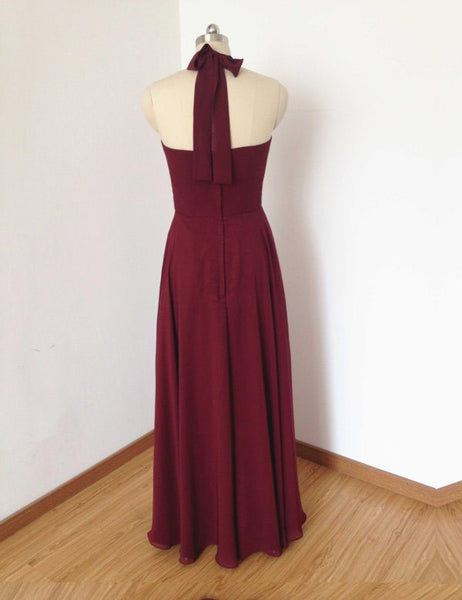 Simple Bridesmaid Dress,Halter Bridesmaid Dress,Pretty Bridesmaid Dress,Charming Bridesmaid dress ,PD123