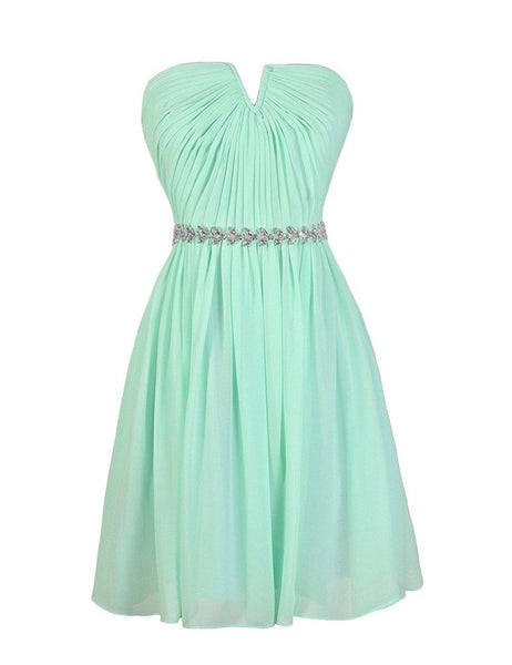 Cute Bridesmaid Dress,Strapless Bridesmaid Dress,Pretty Bridesmaid Dress,Charming Bridesmaid dress ,PD134