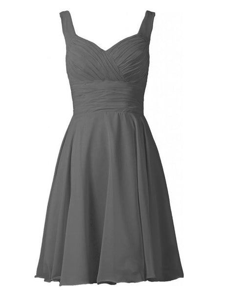 Simple Bridesmaid Dress, Grey Bridesmaid Dress,Pretty Bridesmaid Dress,Charming Bridesmaid dress ,PD153