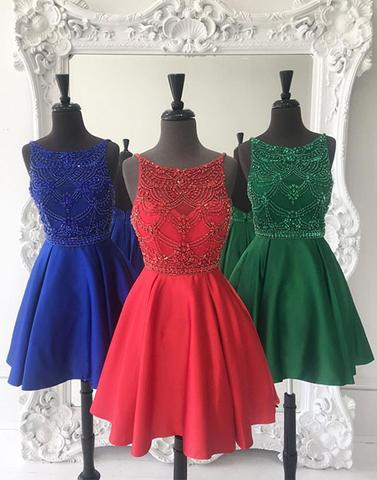 A-line beaded lovely homecoming dress, HD967