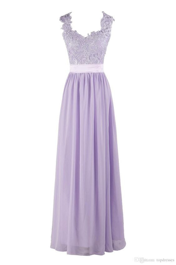 lilac Bridesmaid Dress, lace Bridesmaid Dress,long Bridesmaid Dress,cheap Bridesmaid Dress, BD5203