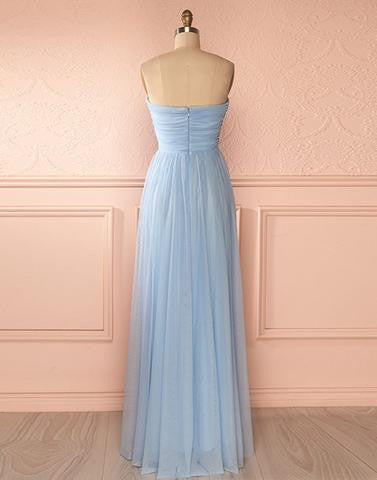 light blue Bridesmaid Dresses,cheap bridesmaid dress,long bridesmaid dress,chiffon bridesmaid dress, PD52658