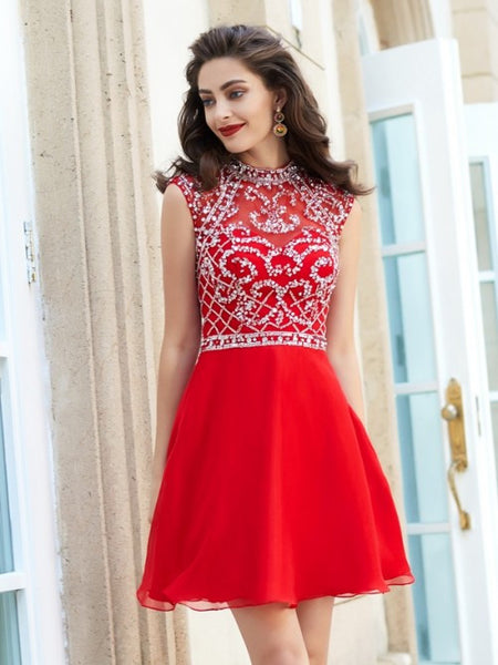 red homecoming dress, short homecoming dress, cheap prom dress, open back homecoming dress, junior homecoming dress, BD3786