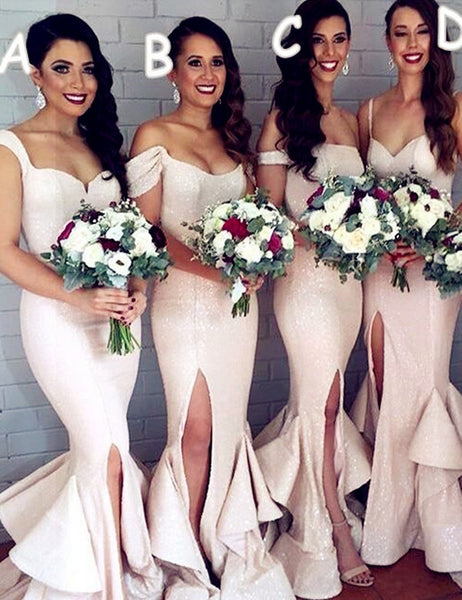 Handmade bridesmaid dress,Mermaid bridesmaid dress, Attractive bridesmaid dress ,Floor-length Bridesmaid dress, ,PD76
