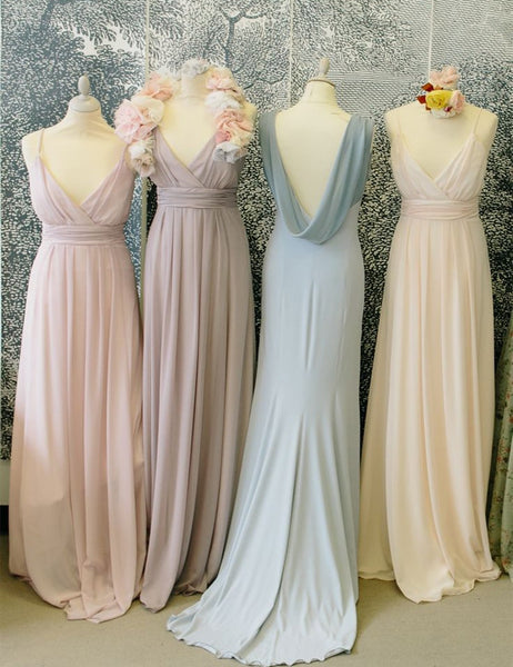 V-neck bridesmaid dress,Cheap bridesmaid dress,Simple bridesmaid dress ,Floor-length Bridesmaid dress ,PD88