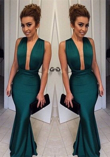 formal sexy teal green mermaid long prom dress, PD0114