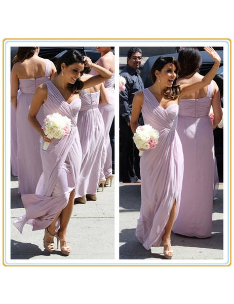 Handmade bridesmaid dress,Elegant  bridesmaid dress,One-shoulder  bridesmaid dress ,Knee-length Bridesmaid dress ,PD92