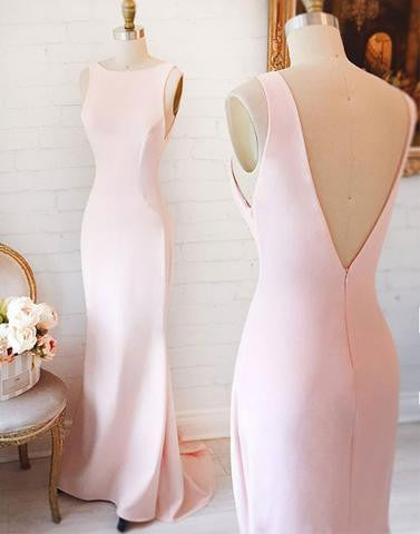 light pink Bridesmaid Dresses,cheap bridesmaid dress,long bridesmaid dress,simple bridesmaid dress, PD52656