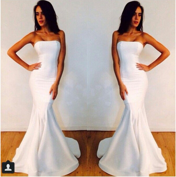 white dresses mermaid