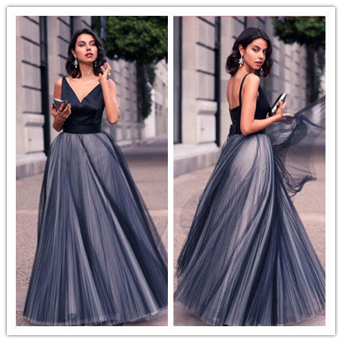 A Line prom dress, long prom Dress, cheap prom dress, black prom dress, formal prom dress,BD486