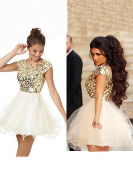 short prom dress, cap sleeves prom dress, A-line prom dress, junior prom dress, homecoming dress 2017, BD485