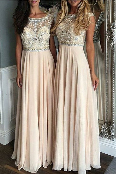 beaded chiffon charming long Bridesmaid Dresses, PD5032