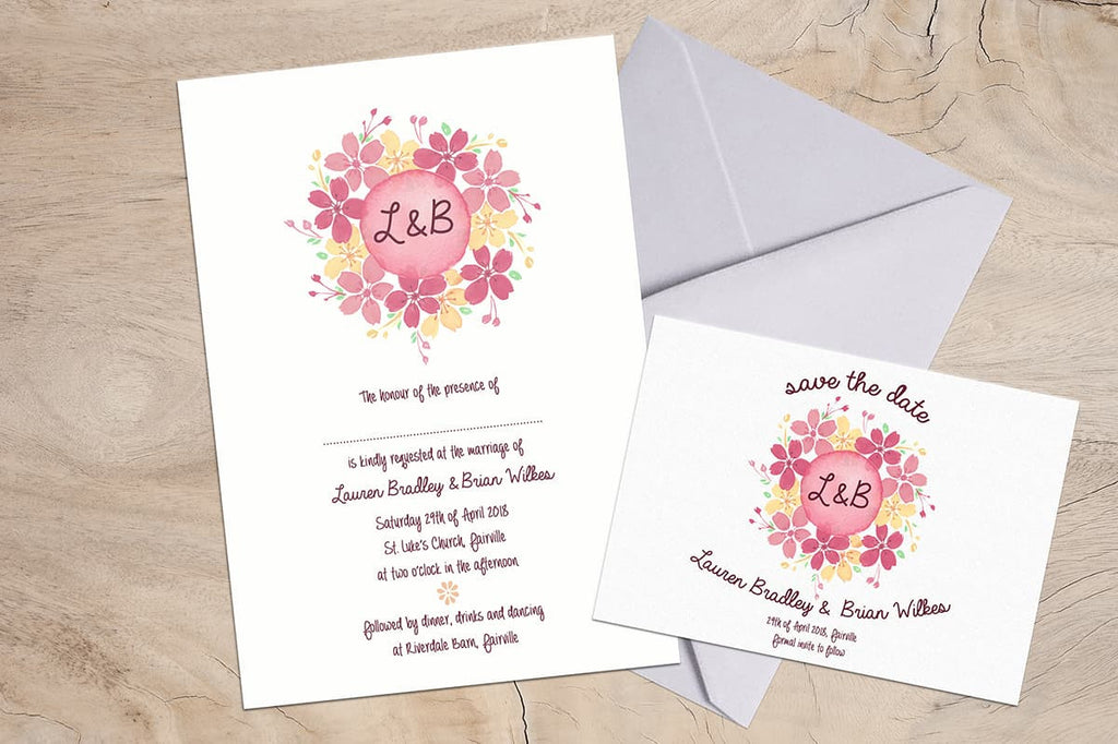 Dainty Floral Save the Date