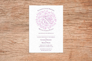 Dusky Floral A5 Wedding Invitation