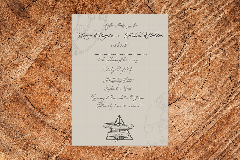 Elegant Harry Potter Wedding Invitation