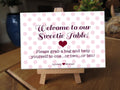 Pink Heart Sweet Table Sign