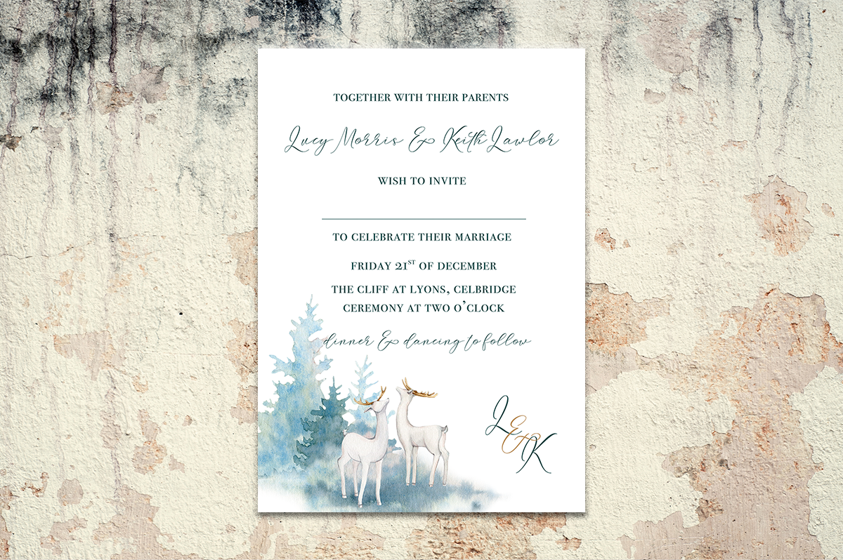 Winter Wild Wedding Invitation