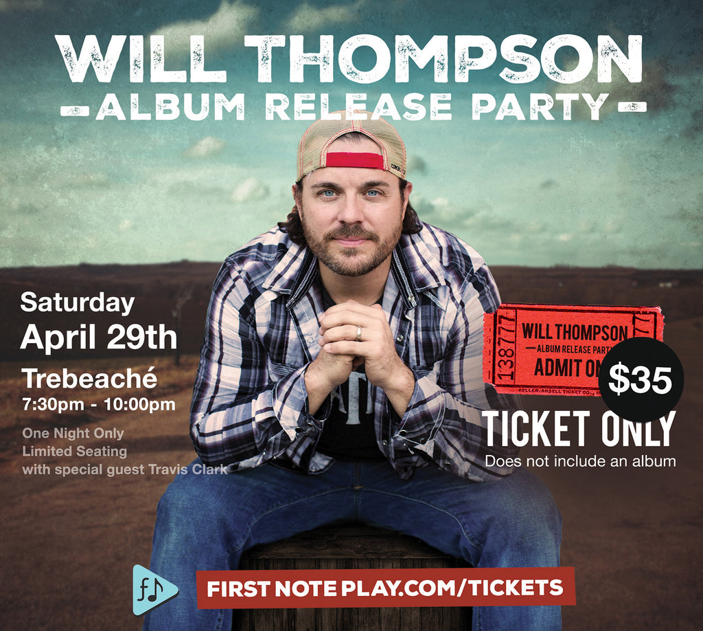 Will Thompson Album Release Party (Special Offer)