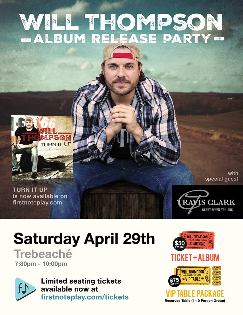 Will Thompson Album Release Party (Gen. Admission Ticket)