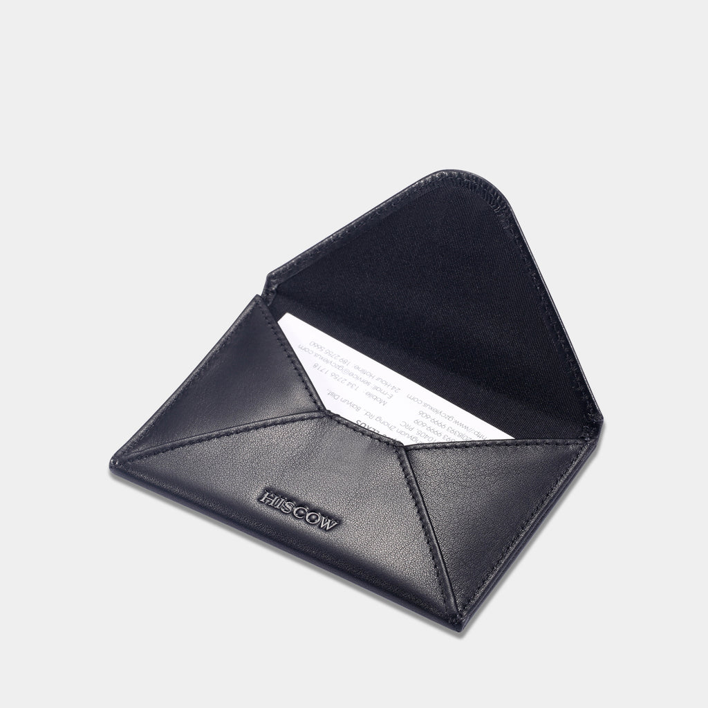 Hiscow envelope business card case black with magnet closure envelope business card case black with magnet closure reheart Choice Image