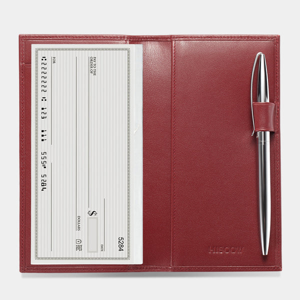 Checkbook Cover with Pen Loop