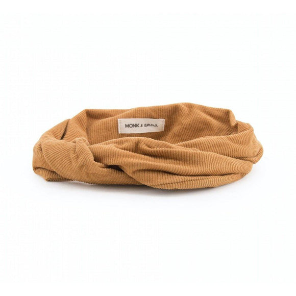 headband en velours coloris caramel