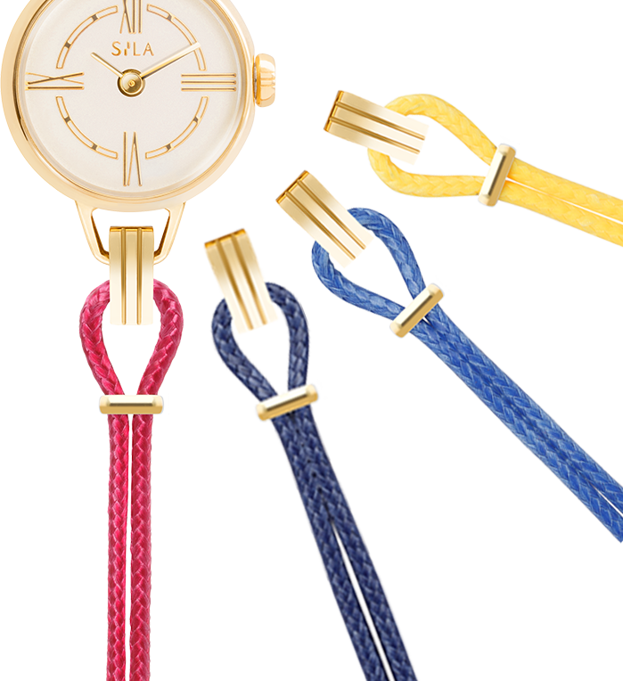 Bracelets montre couleur or jaune