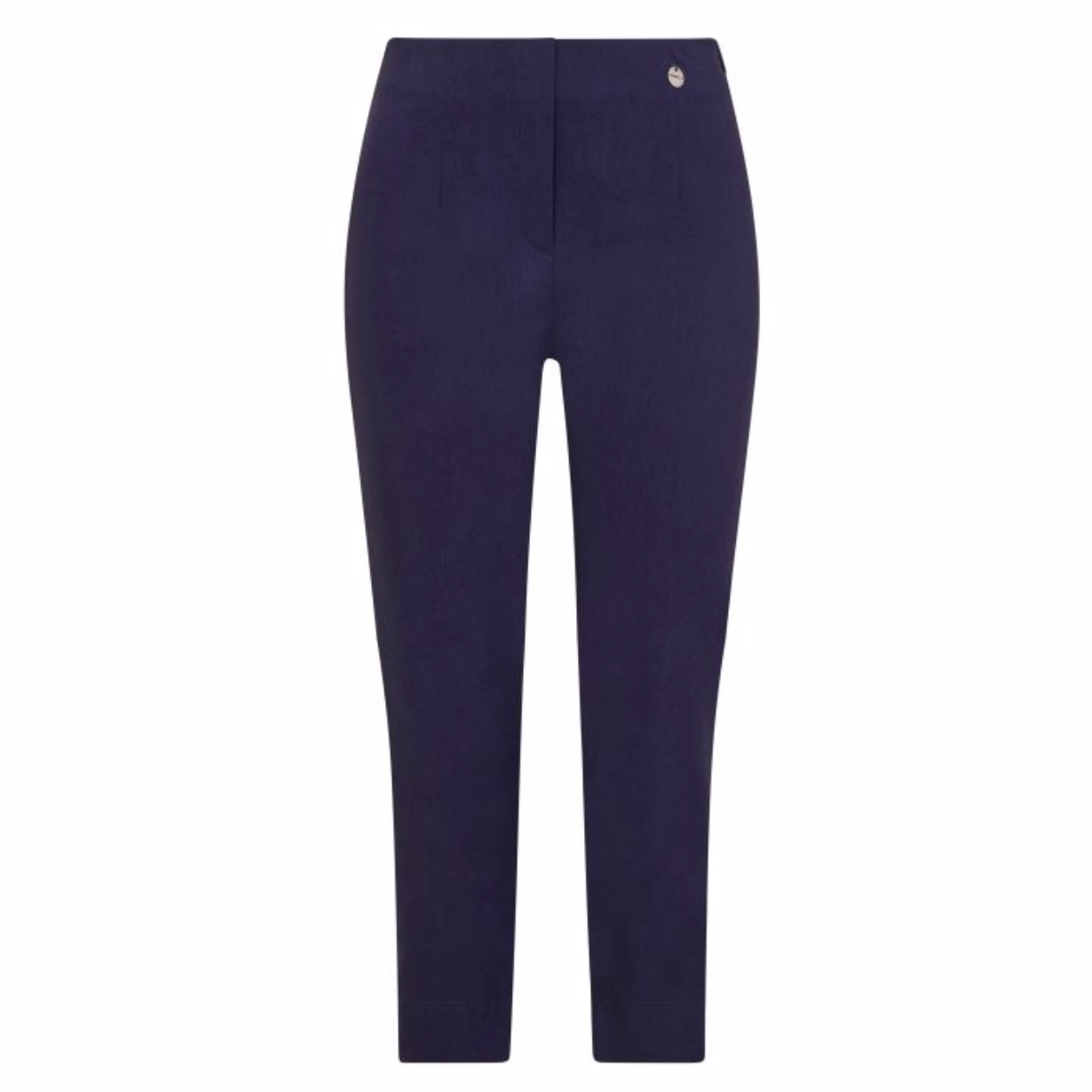Robell Marie Cropped Navy Trousers
