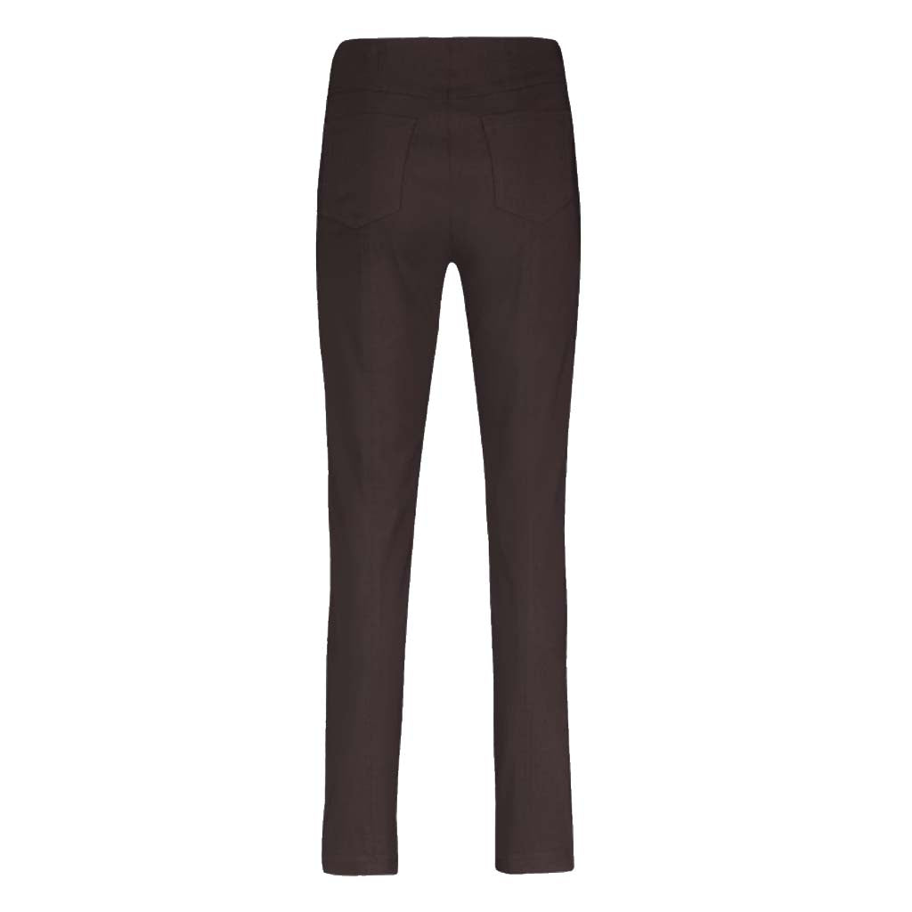 Robell Bella Full Length Chocolate Brown Trousers