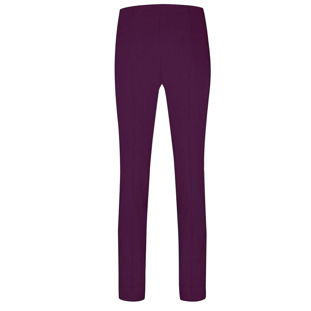 Robell Rose Full Length Plum Trousers