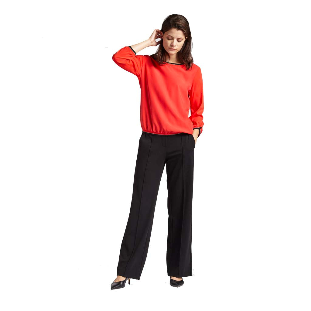 Sandwich_ Red Top With Black Trim