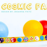 COSMIC PARTY Gelb Webband 1 Meter