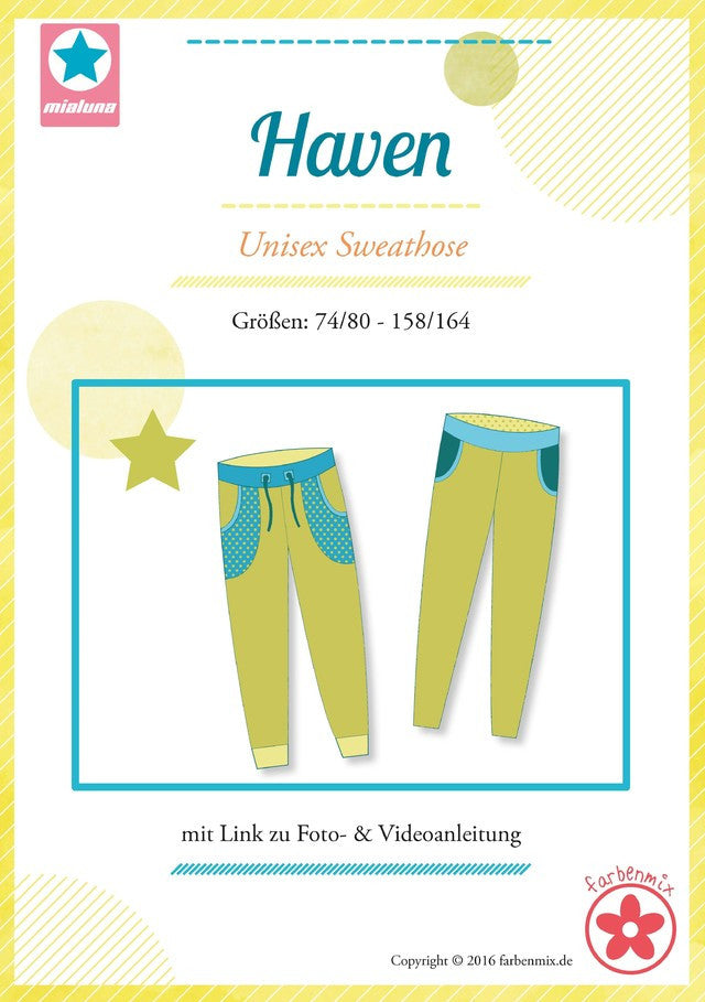 HAVEN Unisex Sweat-Hose mialuna Gr. 74/80-158/164