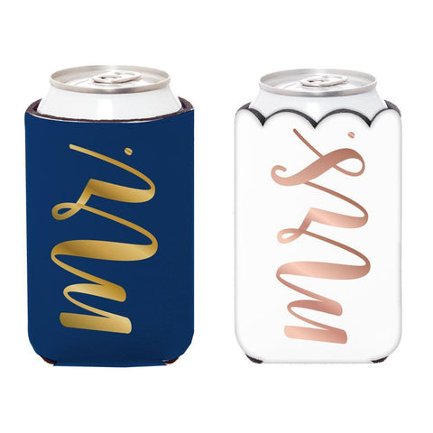 Mr. & Mrs. Can Cooler-Palm & Pine Party Co.