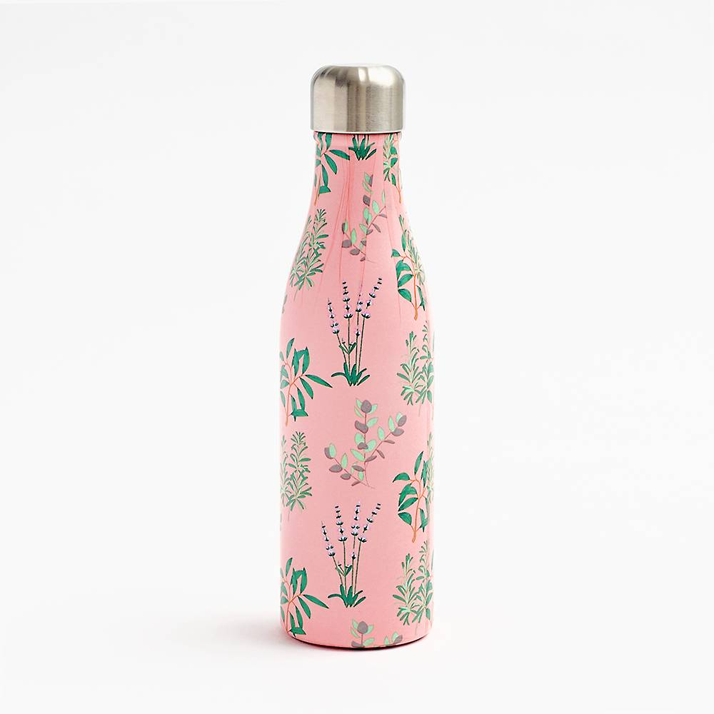 Herb Water Bottle-Palm & Pine