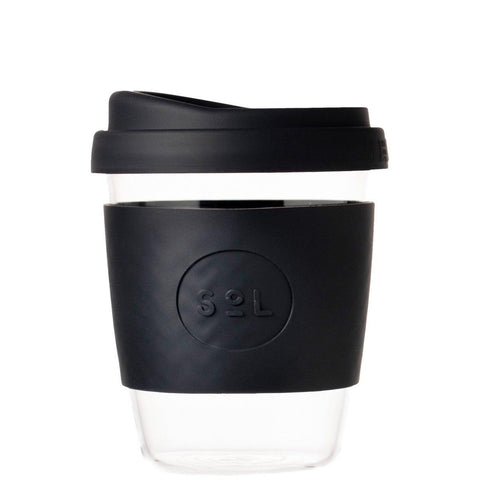 SoL 12oz Reusable Cup - Black-Palm & Pine Party Co.