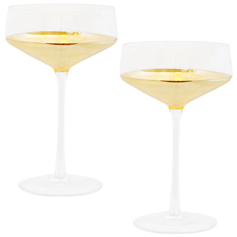 Estelle Gold Coupe Set of 2-Palm & Pine