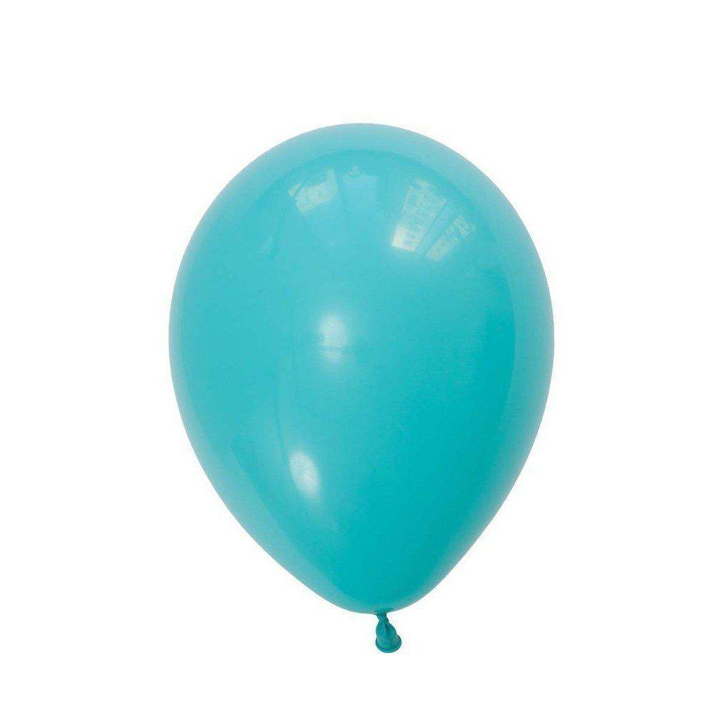 28cm Balloon Caribbean Blue, Inflated-Palm & Pine