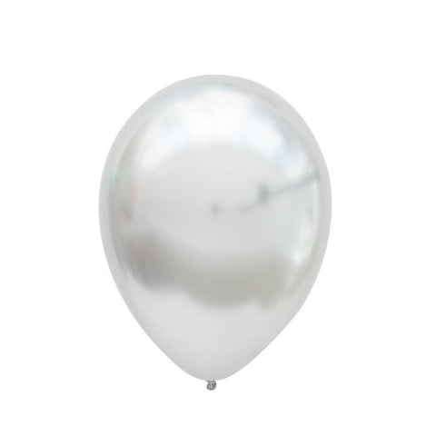 28cm Balloon Chrome Silver-Palm & Pine Party Co.