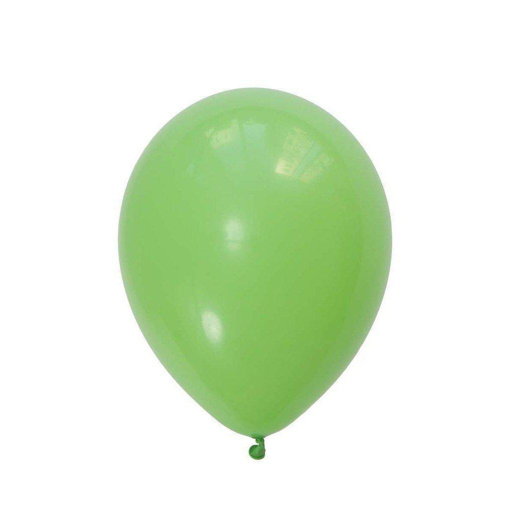 28cm Balloon Lime Green, Inflated-Palm & Pine